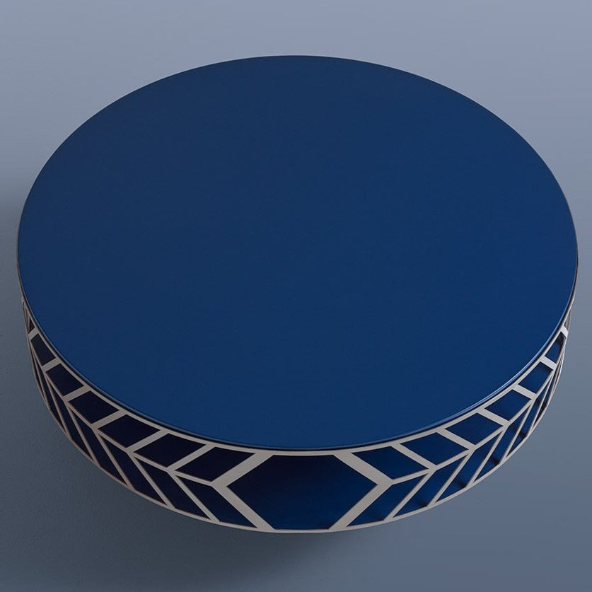 Wood : Night Blue Lacquer. Metal Ring : Champagne Lacquer.
