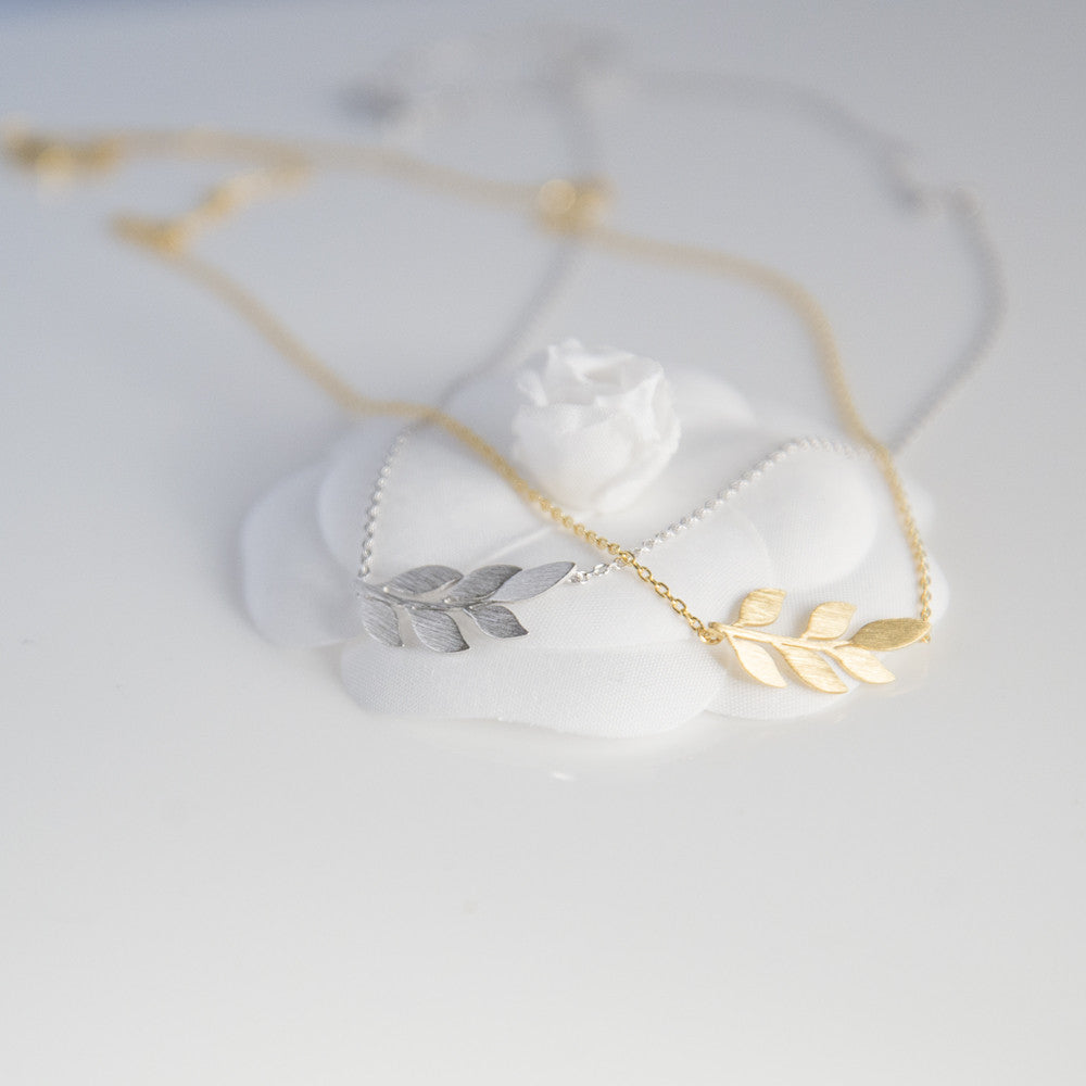 diamond gold necklace white olive branch set