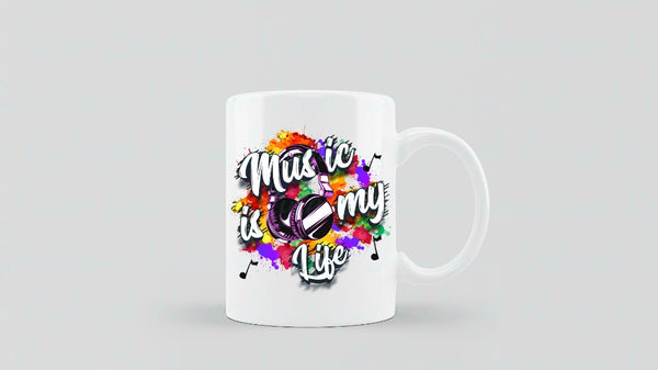 Music is Life Sublimation mugs | Ryleigh Paige Boutique