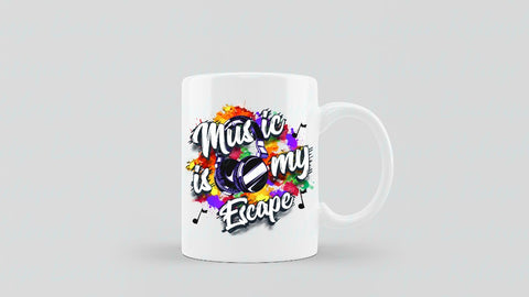 Music is my Escape Sublimation mugs | Ryleigh Paige Boutique