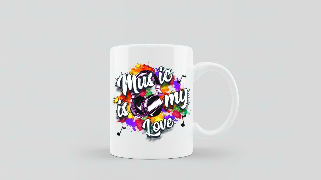 Music is my Love Sublimation mugs | Ryleigh Paige Boutique