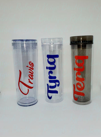 Tumbler with name