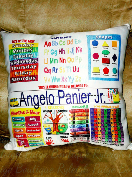Learning Pillow | Ryleigh Paige Boutique