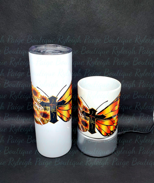 Butterfly faith tumbler & mug set | Ryleigh Paige Boutique