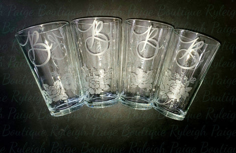 Set of Etched glasses | Ryleigh Paige Boutique