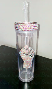 Acrylic 16 oz. Tumbler w/rhinestoned decal | Ryleigh Paige Boutique