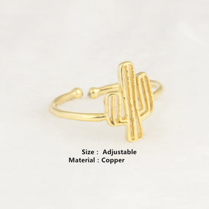 gold plated cactus ring fiercelygreen
