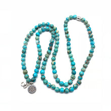 Load image into Gallery viewer, Turquoise and Amazonite Mala Bead Bracelet / Necklace FiercelyGreen
