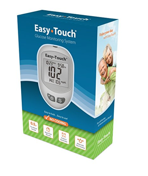 807001 EasyTouch Glucose Meter, Blue/Green