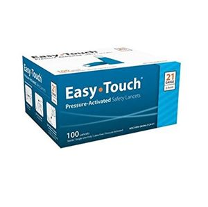 821241 EasyTouch Pressure Activated Safety Lancet, 21G