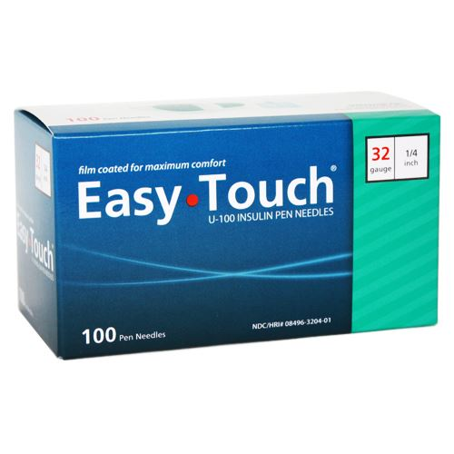 832041 EasyTouch® Pen Needles – 100 count, 32g, 1/4″ (6mm), Teal