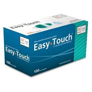 832361 EasyTouch® Pen Needles – 100 count, 32g, 3/16″ (5mm), Teal