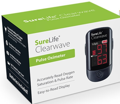 860310 SureLife Clearwave Pulse Oximeter (Black)