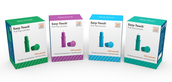 832121 EasyTouch Pull-Top Lancets, 32g Pull-Top Lancet, Teal