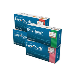 802401 EasyTouch Hypodermic Needle, 24G, 25mm, 1""