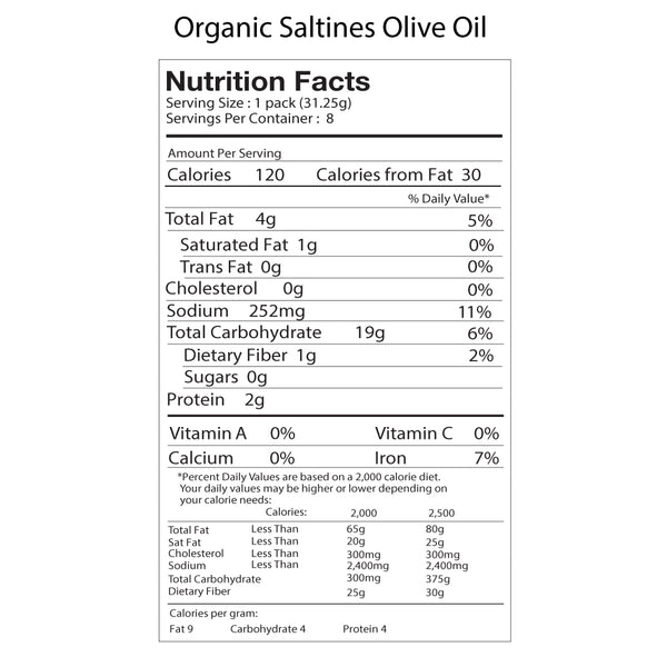 Organic Salt & Olive Oil Saltines