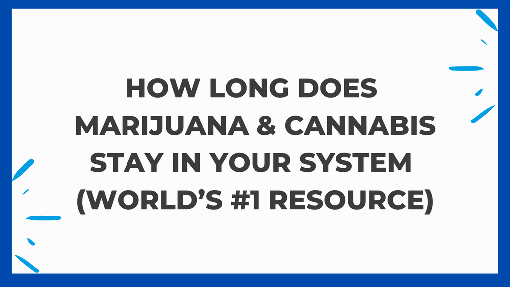 How Long Does Marijuana & Cannabis Stay in Your System? (World's #1 Resource)