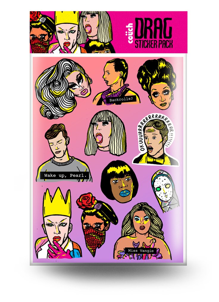 Drag Race Sticker Pack