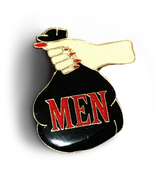Men Are Trash Enamel Pin