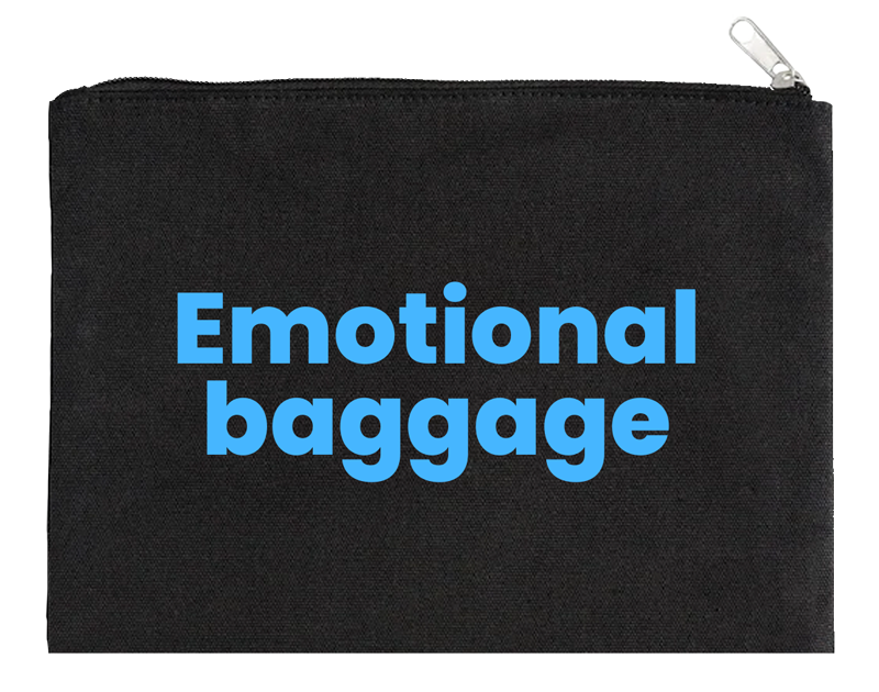 Emotional Baggage Black Pouch