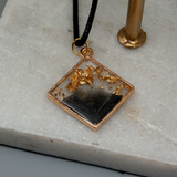Black and Gold filled Bright Gold Pendants - Tilly Anne Designs