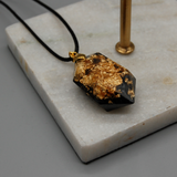 Black and Gold Resin crystal Necklace - Tilly Anne Designs