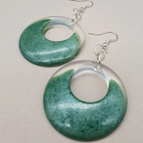 Retro Circle Resin Hanging Earrings - Tilly Anne Designs