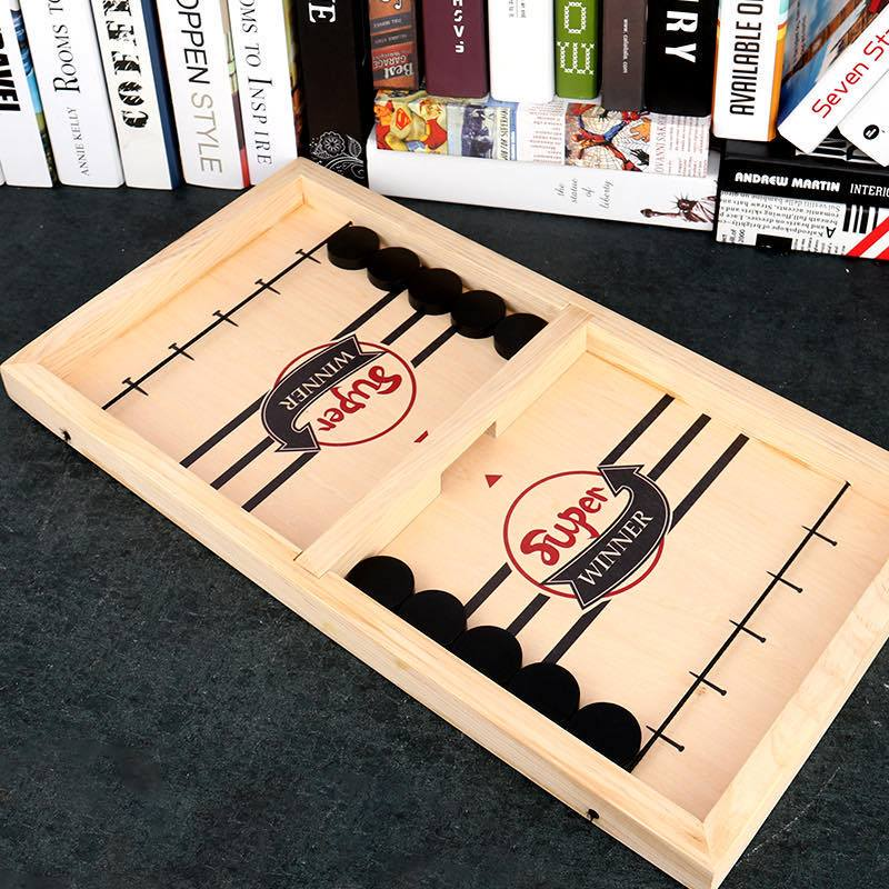 Peekatoy™ Funny Family Wooden Hockey Game - Holiday Sale