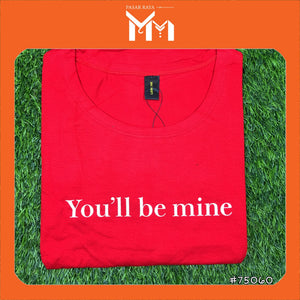 Lady T-Shirt #75060 L Size [You'll  be Mine]