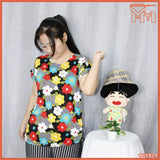 LADY SHIRT #75829 [ FLOWER ]