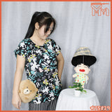 LADY SHIRT #75829 [ WHITE FLOWER ]
