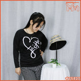 LADY LONG SLEEVE SHIRT #75827 [ LOVE ]