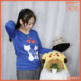 LADY LONG SLEEVE SHIRT #75827 [ CAT LOVE ]