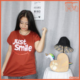 LADY SHIRTS #75828 [ Just Smile ]