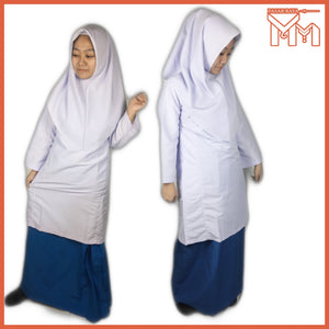 SCHOOL UNIFORM SECONDARY SCHOOL KAIN KURUNG MENENGAH ZIP KOSHIBO T/BLUE