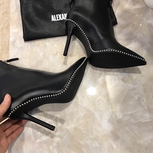 Load image into Gallery viewer, Alexander Wang Eri Studded Leather Bootie