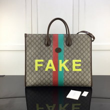 Load image into Gallery viewer, Gucci FAKE/NOT large tote