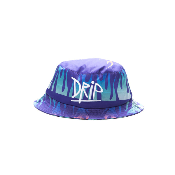 BUCKET HAT WITH FLAMES