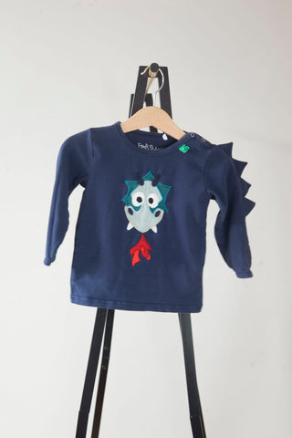 Fred's World Navy Dragon Top 9-12m