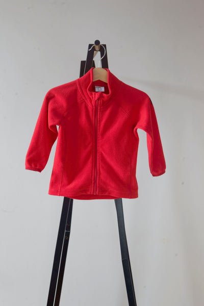 Polarn O. Pyret Red Lightweight Fleece 6-12m