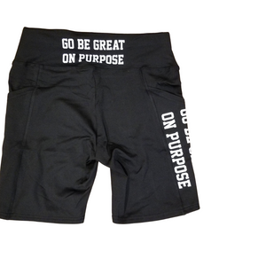 """Go Be Great On Purpose"" biker shorts"