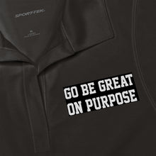 "Load image into Gallery viewer, ""Go Be Great On Purpose"" Women's Polo Shirt"