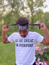 "Load image into Gallery viewer, ""Go Be Great On Purpose"" Classic Men's Short Sleeve Tee"