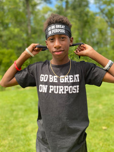 """Go Be Great On Purpose"" Classic Men's Short Sleeve Tee"