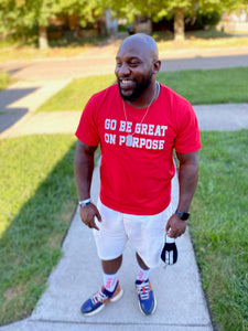 """Go Be Great On Purpose"" Classic T-Shirt Cherry Red"