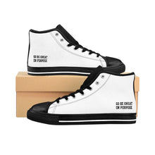 "Load image into Gallery viewer, ""Go Be Great On Purpose"" Men's High-top Sneakers"