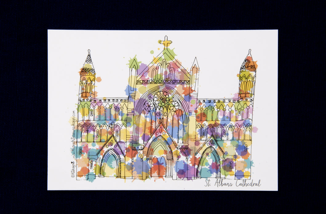 St Albans Cathedral postcard by Hannah Sessions