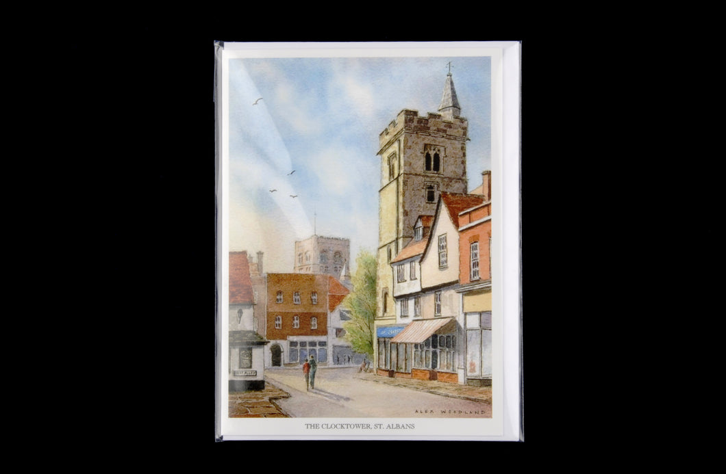 Clocktower greeting card