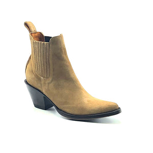 Women's Tan Suede Ankle Boots | Los