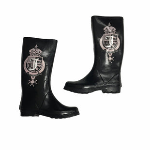 Primary Photo - BRAND: JUICY COUTURE STYLE: BOOTS RAIN COLOR: BLACK SIZE: 9 SKU: 116-116140-11477